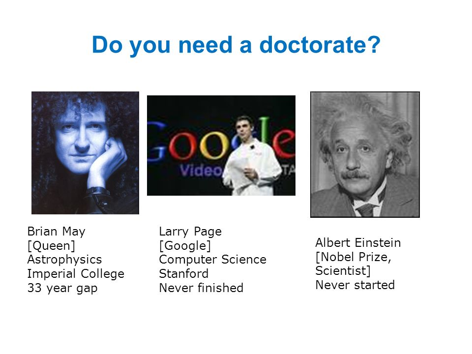 Do you need a doctorate.