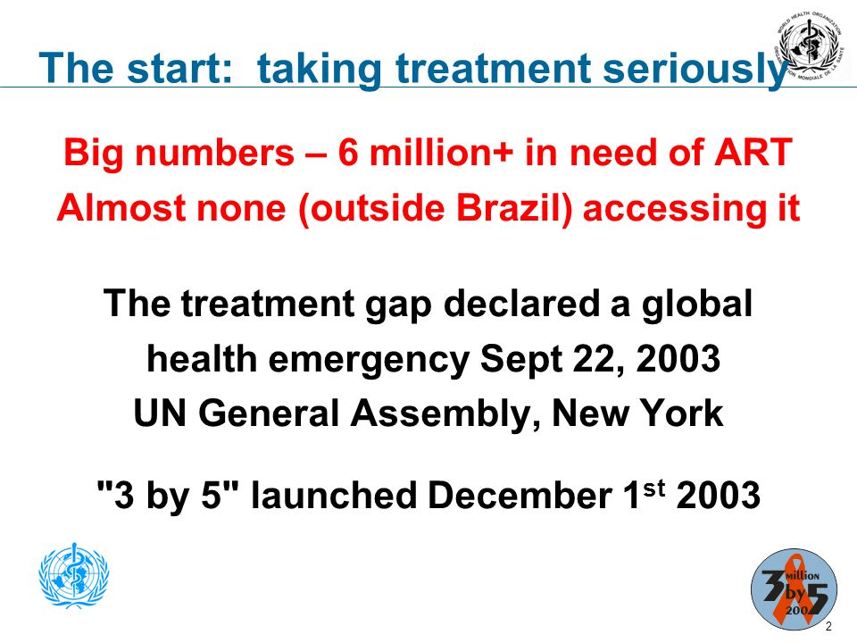 From 3by5 to Universal Access – lessons learned and new challenges ODI Meetings Series Do big plans help big numbers.