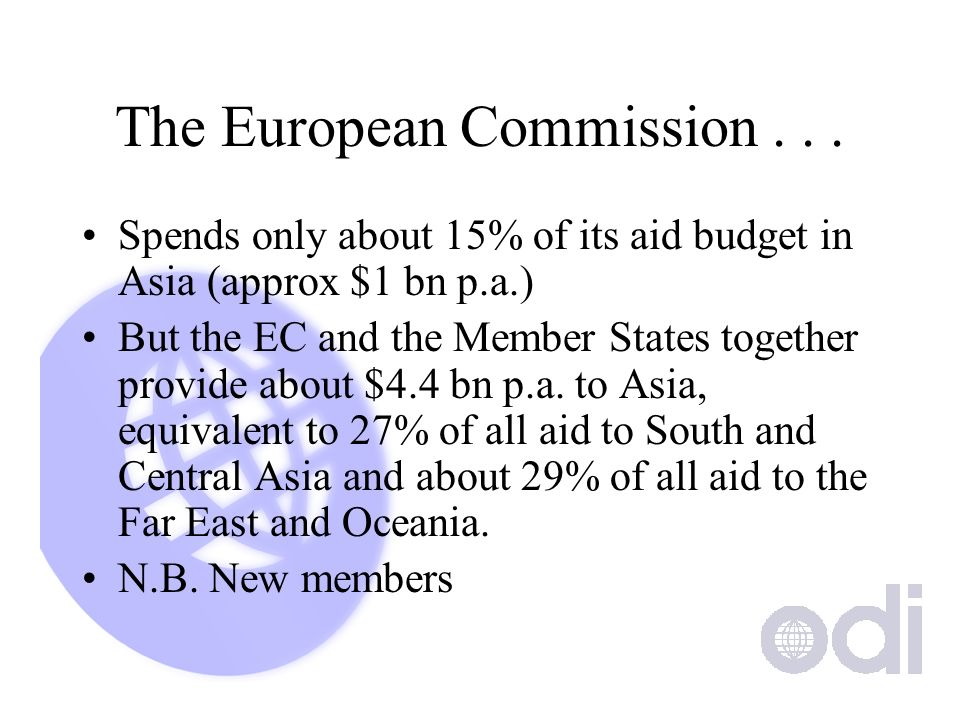 The European Commission...