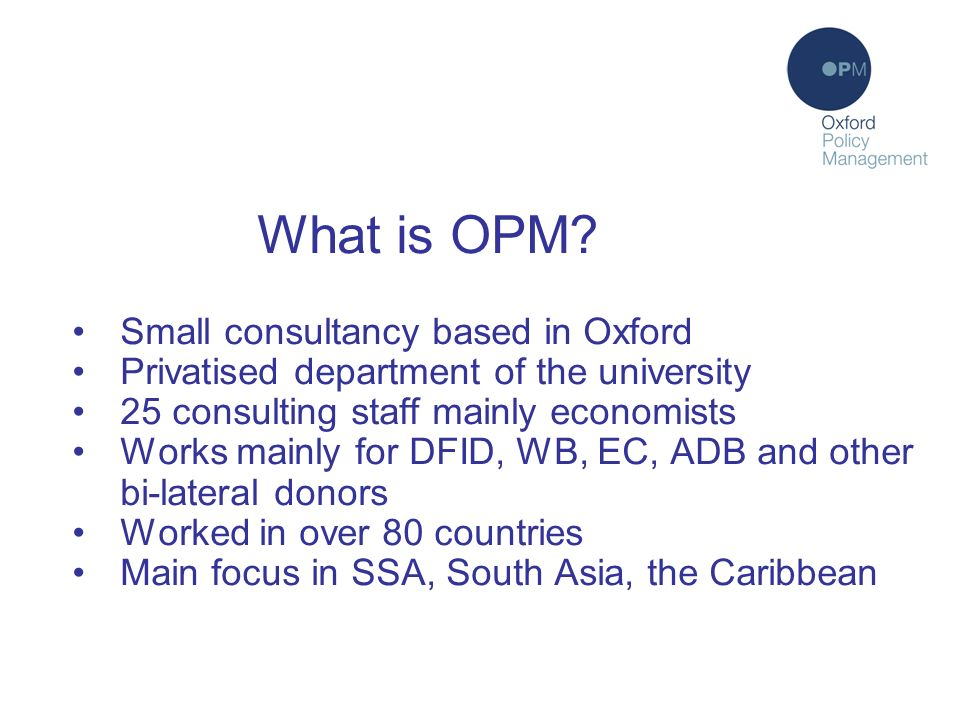 What is OPM.