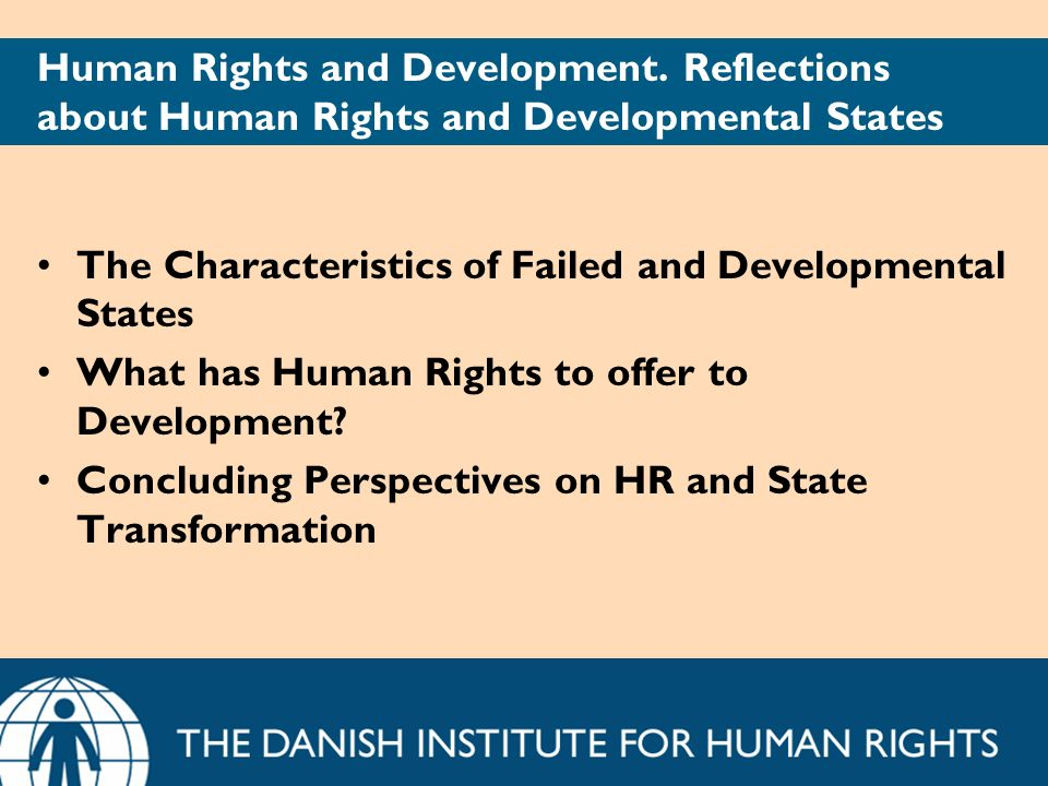 Human Rights and Development.