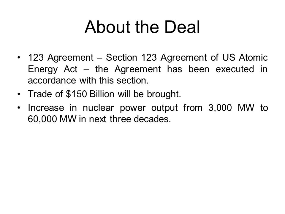 Indo Us Nuclear Agreement Looking Through The Prism Of Human Rights