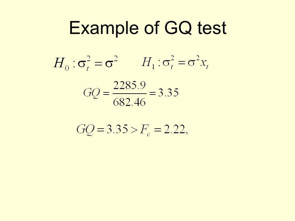 Example of GQ test