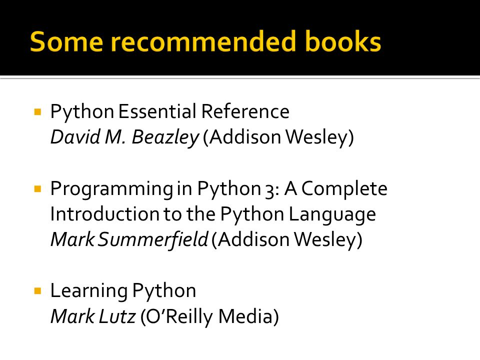 Python Essential Reference David M.