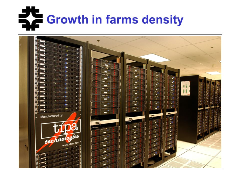 Growth in farms density