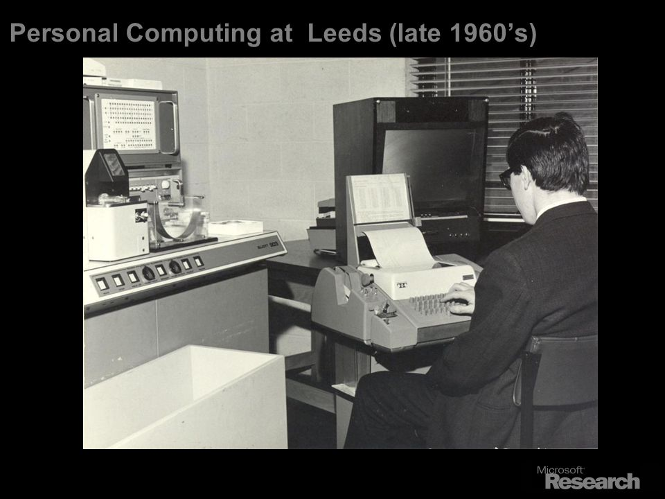 Personal Computing at Leeds (late 1960s)