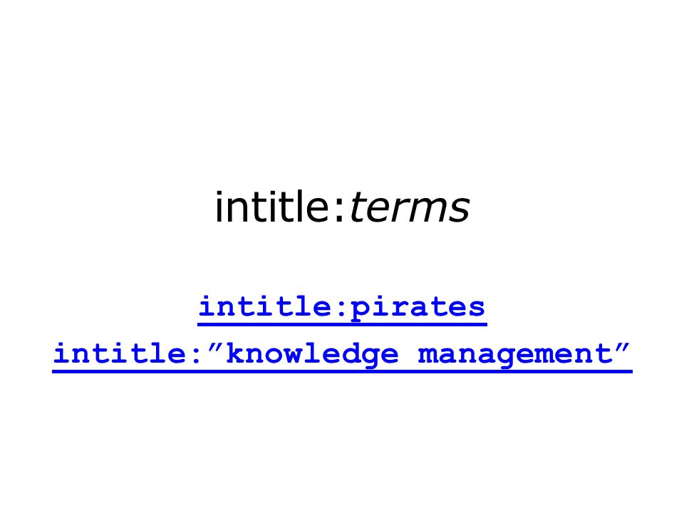 intitle:terms intitle:pirates intitle:knowledge management