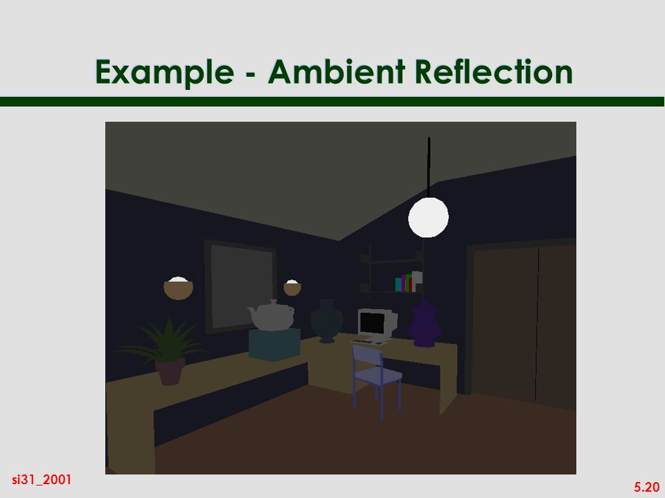 5.20 si31_2001 Example - Ambient Reflection