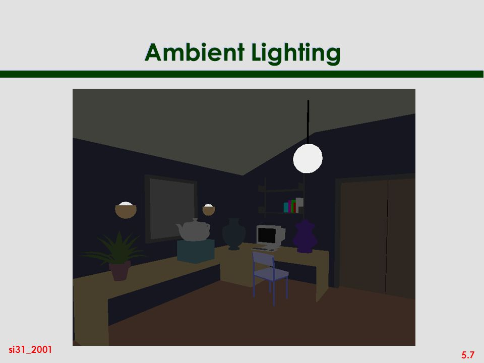 5.7 si31_2001 Ambient Lighting