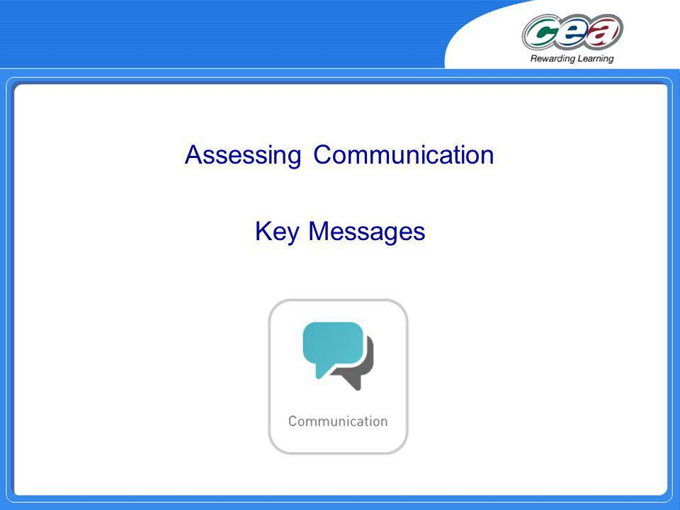 Assessing Communication Key Messages
