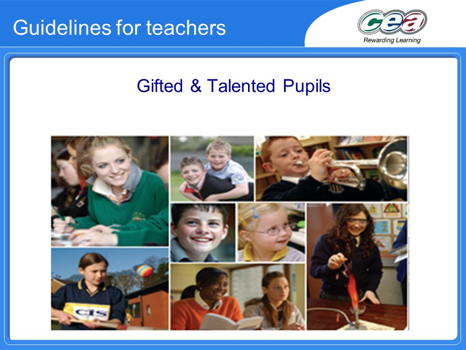 Guidelines for teachers Gifted & Talented Pupils