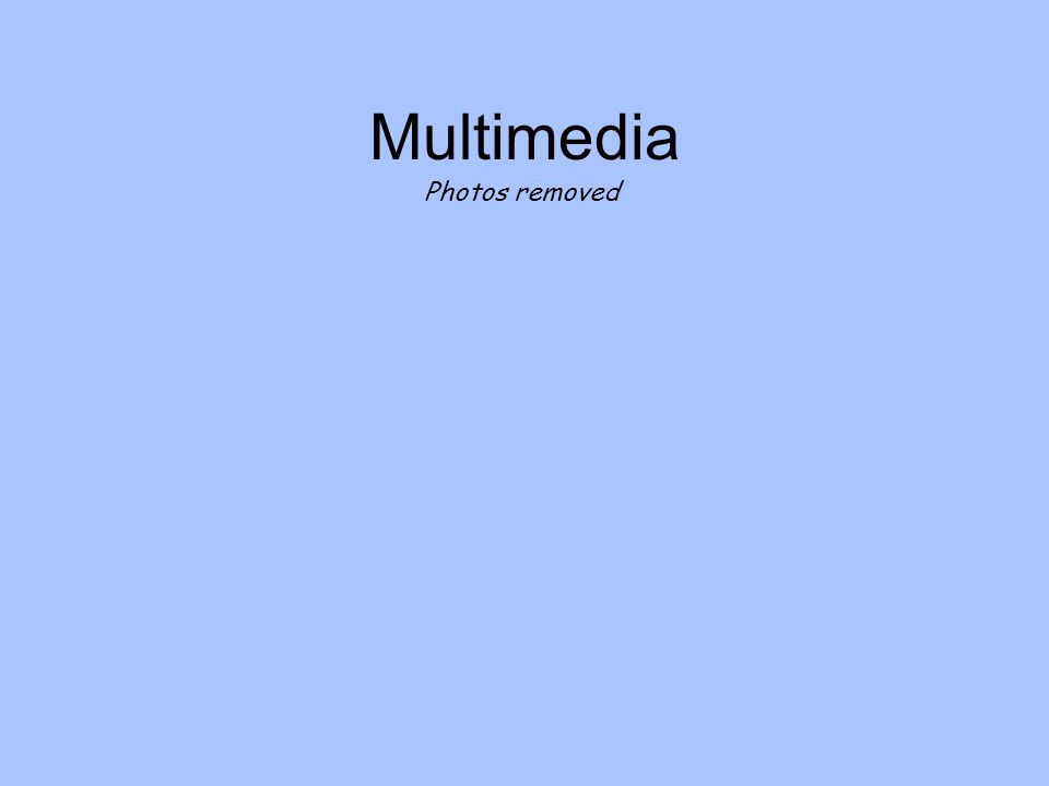 Multimedia Photos removed