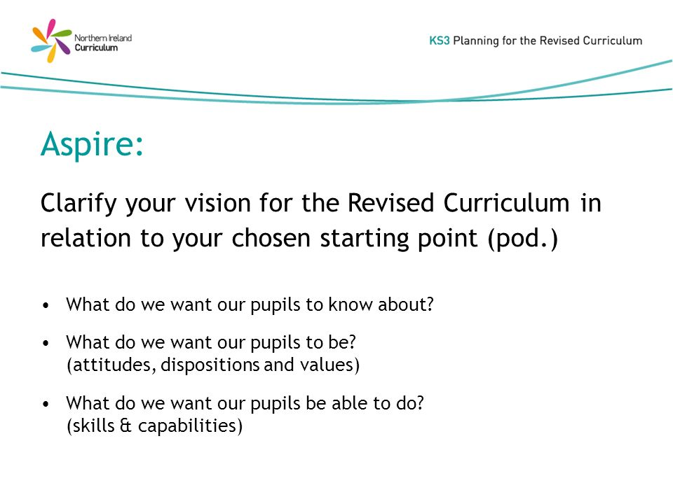 What do we want our pupils to know about. What do we want our pupils to be.