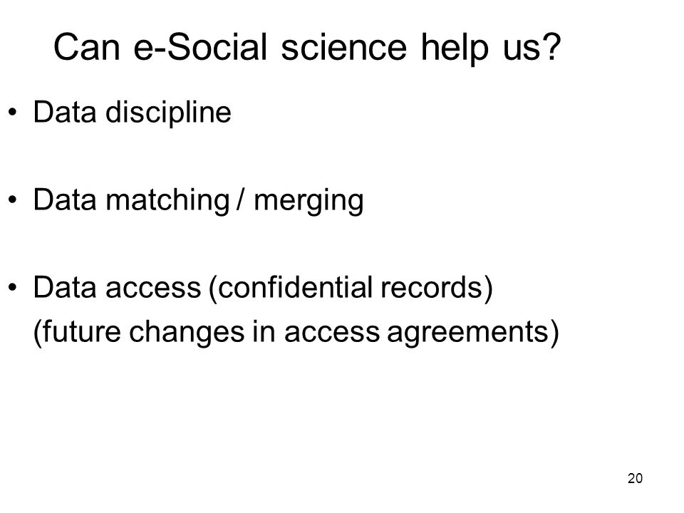 20 Can e-Social science help us.