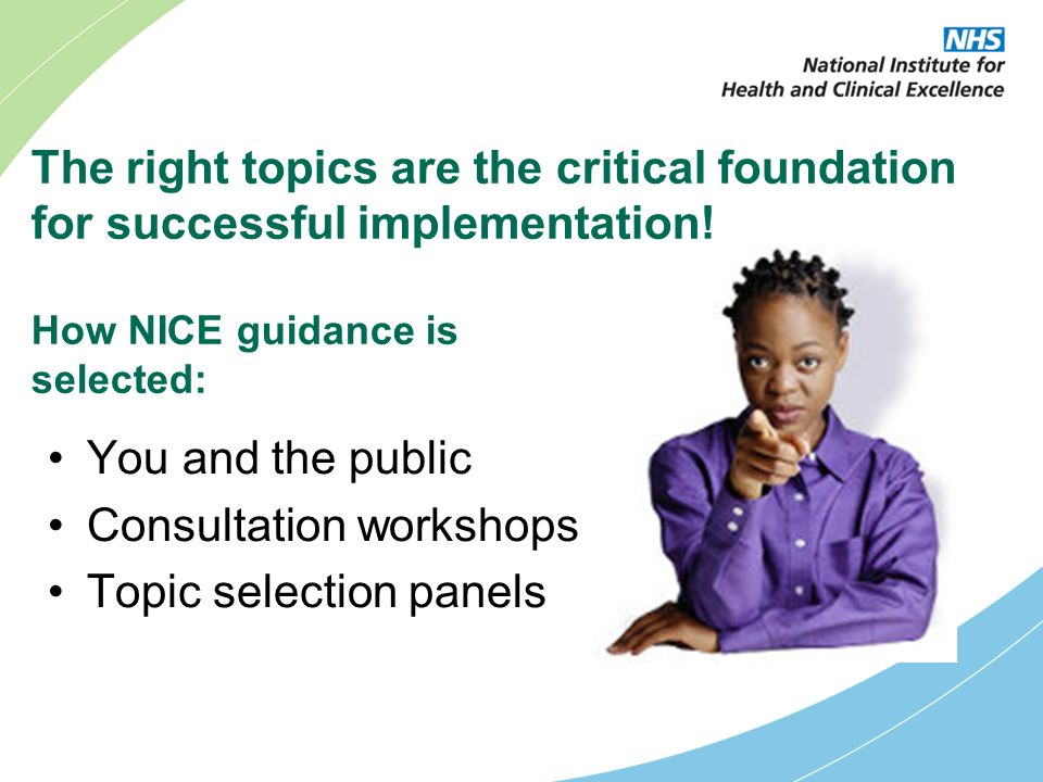 The right topics are the critical foundation for successful implementation.