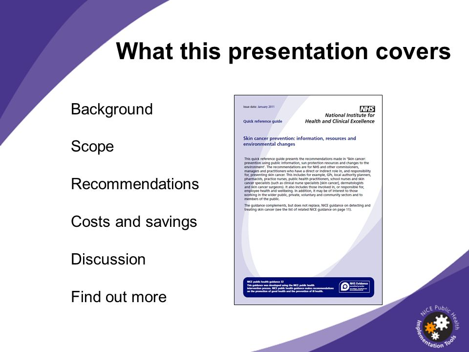 What this presentation covers Background Scope Recommendations Costs and savings Discussion Find out more