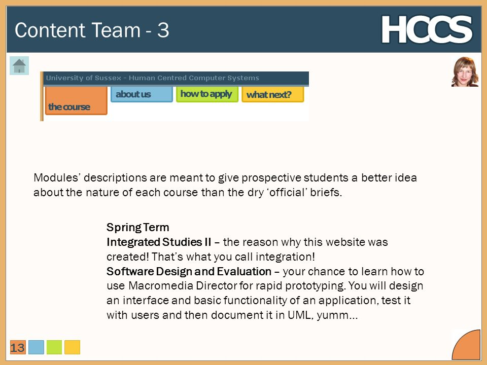 Content Team - 3 13 Spring Term Integrated Studies II – the reason why this website was created.