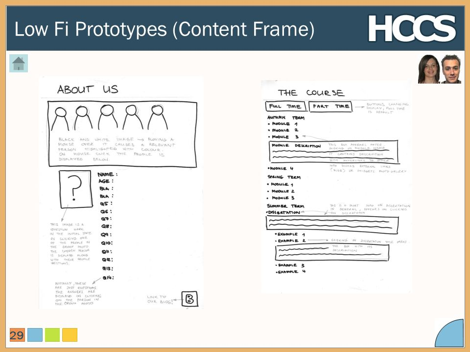 Low Fi Prototypes (Content Frame) 29
