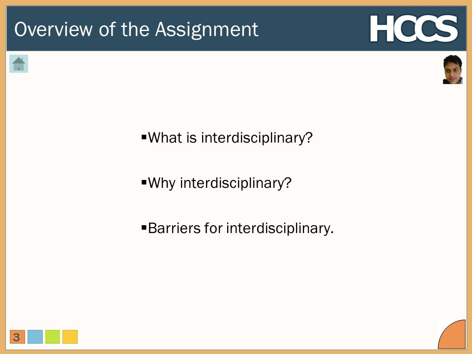 Overview of the Assignment 3 What is interdisciplinary.