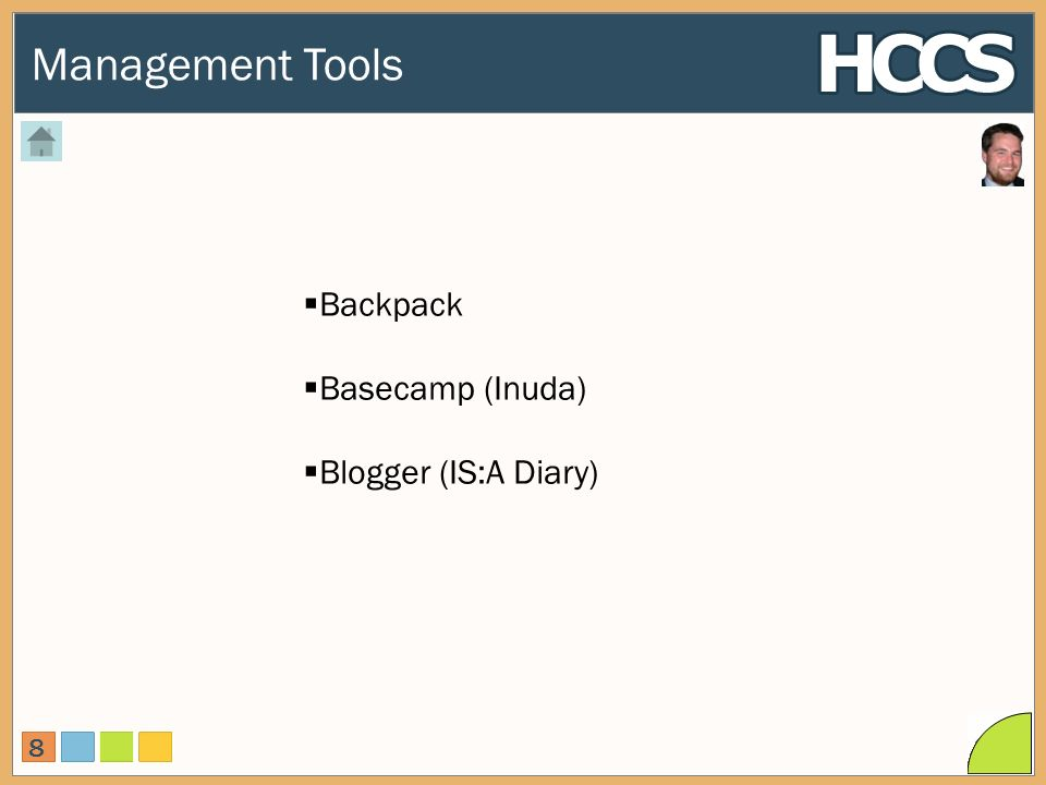 Management Tools 8 Backpack Basecamp (Inuda) Blogger (IS:A Diary)
