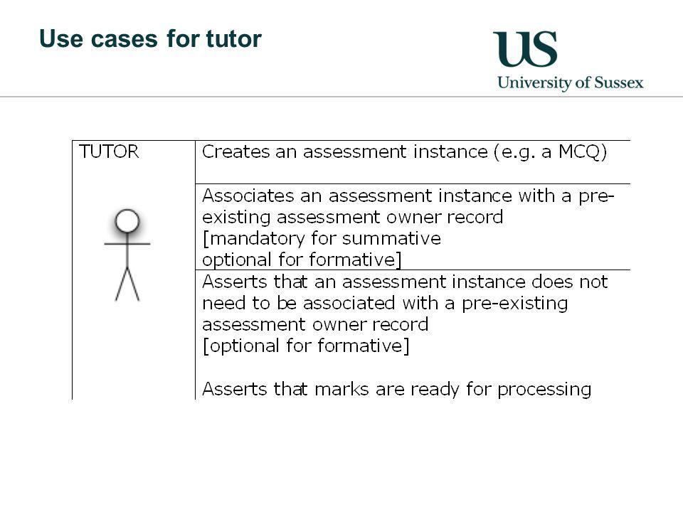 Use cases for tutor