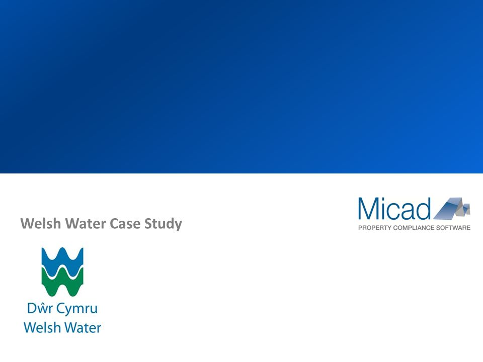 Welsh Water Case Study