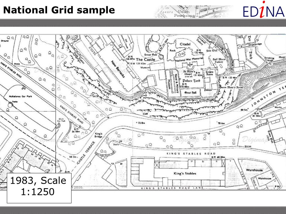 National Grid sample 1983, Scale 1:1250