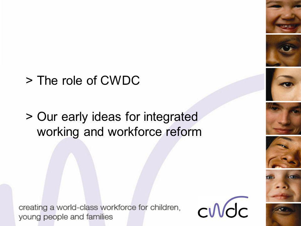 >The role of CWDC >Our early ideas for integrated working and workforce reform