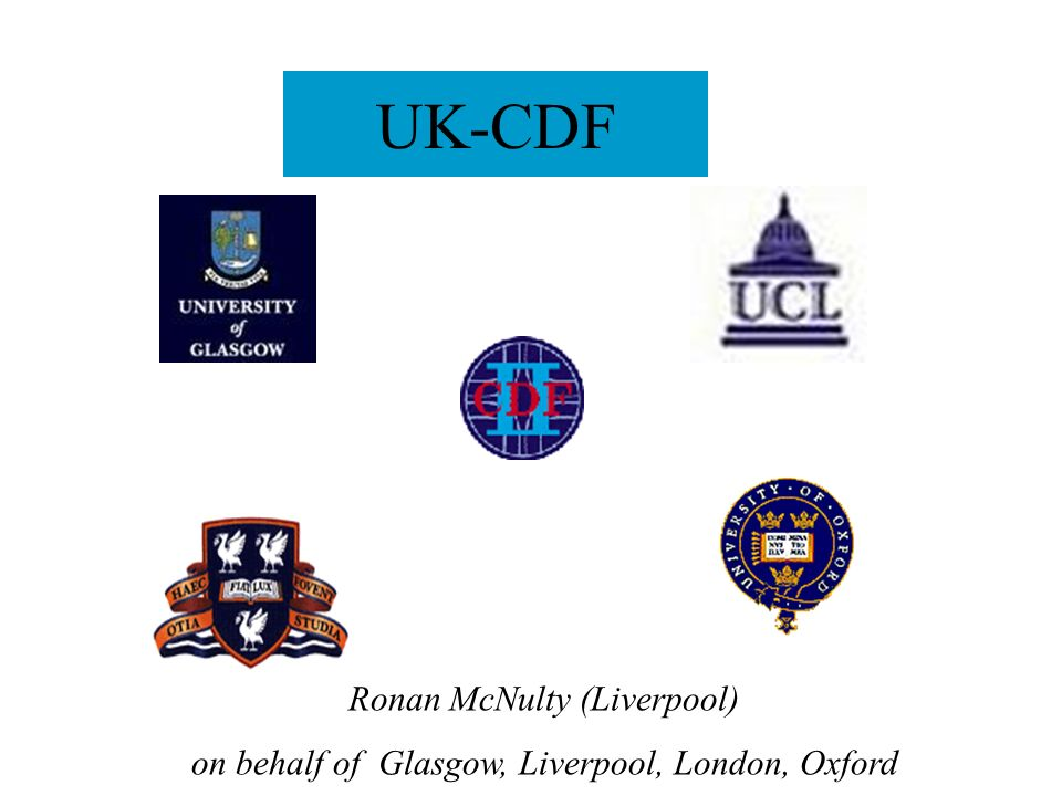 UK-CDF Ronan McNulty (Liverpool) on behalf of Glasgow, Liverpool, London, Oxford