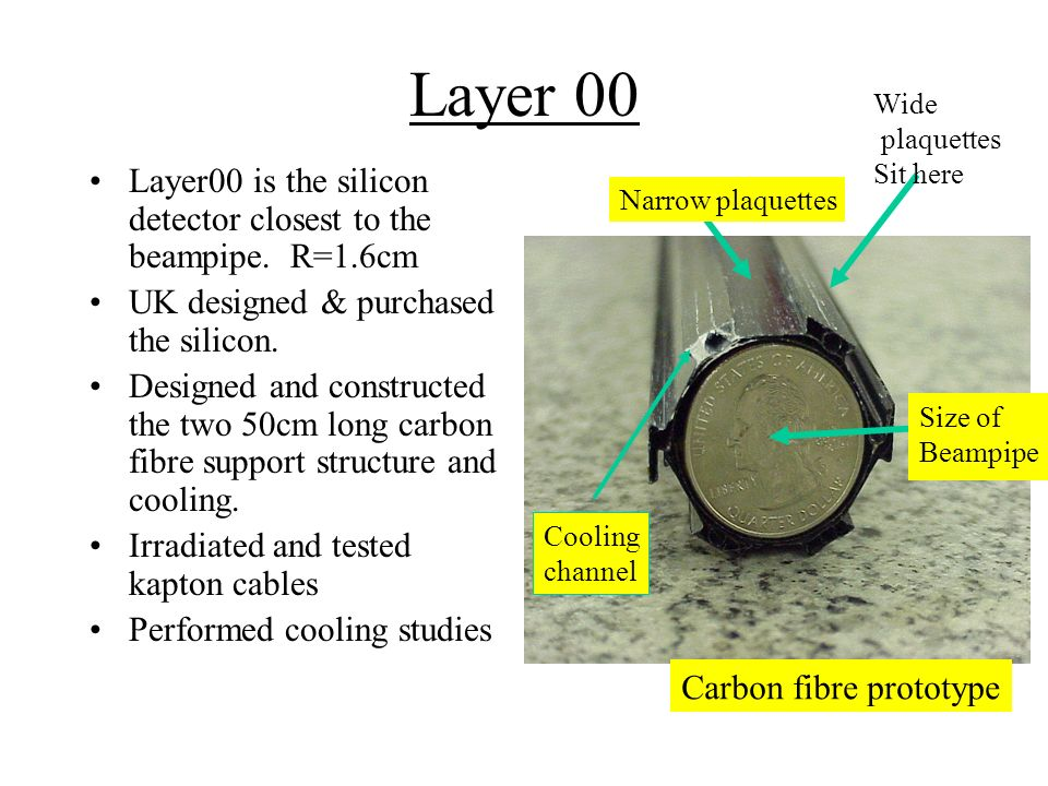 Layer 00 Layer00 is the silicon detector closest to the beampipe.