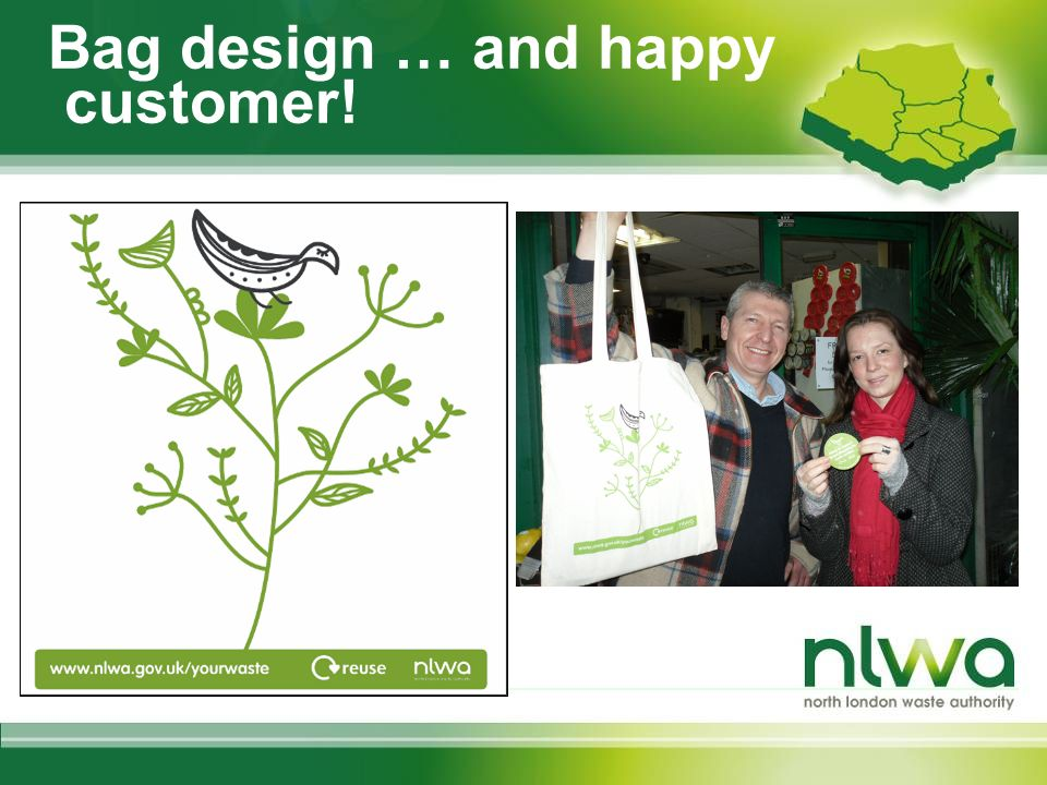 Bag design … and happy customer!