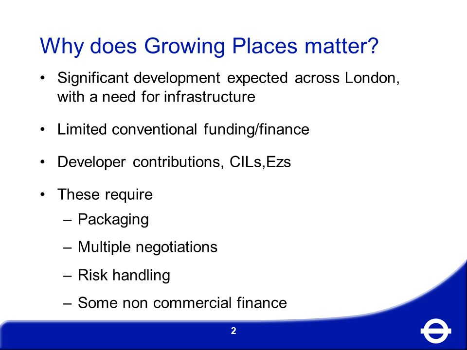 Why does Growing Places matter.