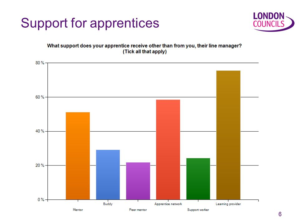 6 Support for apprentices