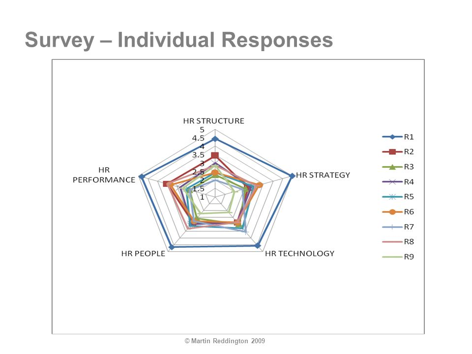 © Martin Reddington 2009 Survey – Individual Responses