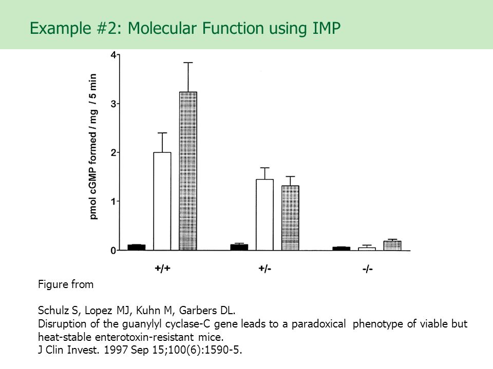 Example #2: Molecular Function using IMP Figure from Schulz S, Lopez MJ, Kuhn M, Garbers DL.