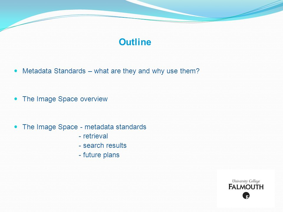 Metadata Standards – what are they and why use them.