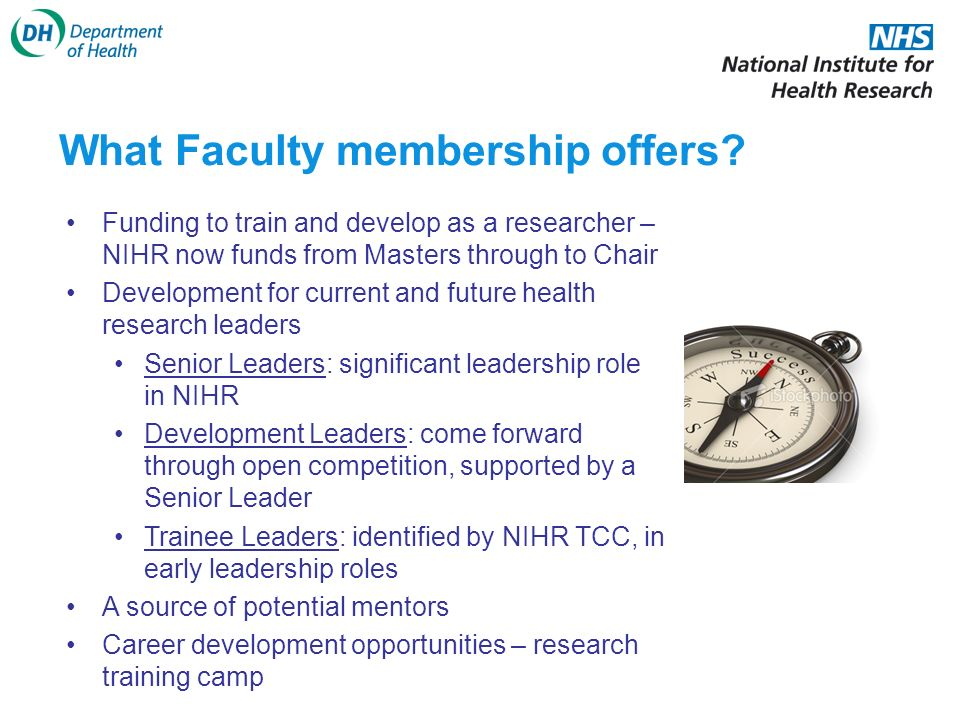 What Faculty membership offers.