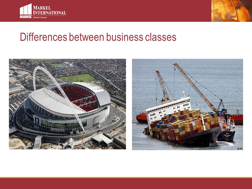 Differences between business classes