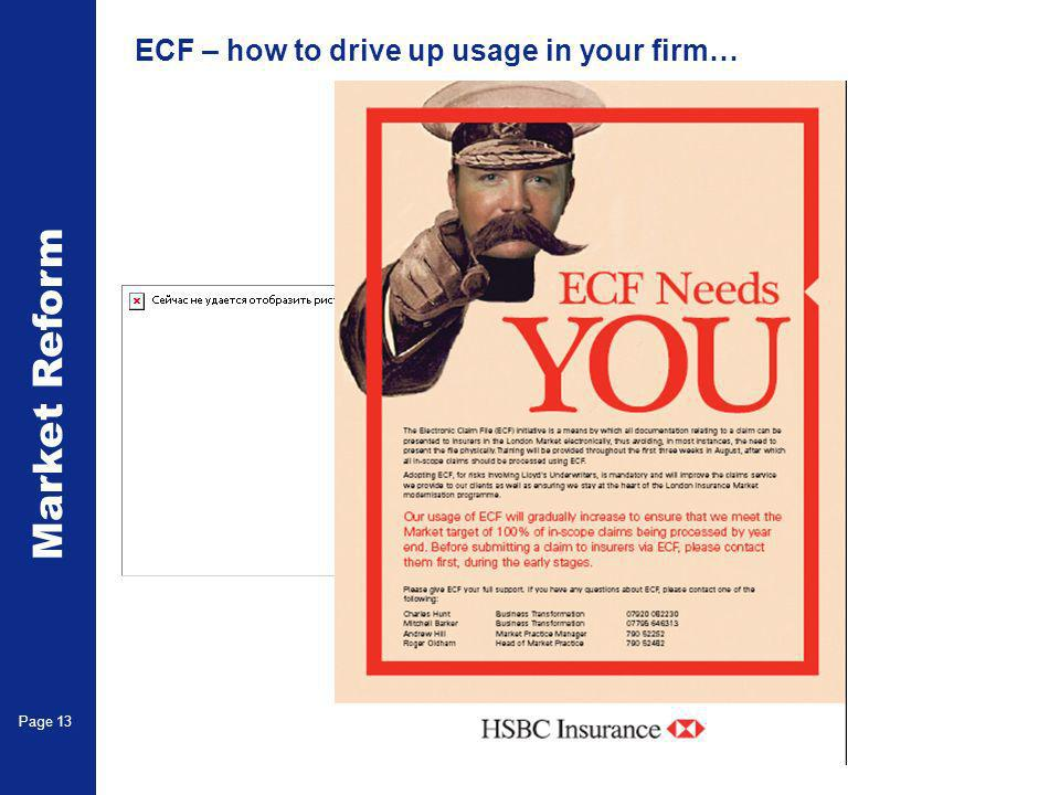 Market Reform Page 13 ECF – how to drive up usage in your firm…