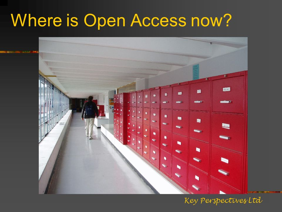 Where is Open Access now Key Perspectives Ltd