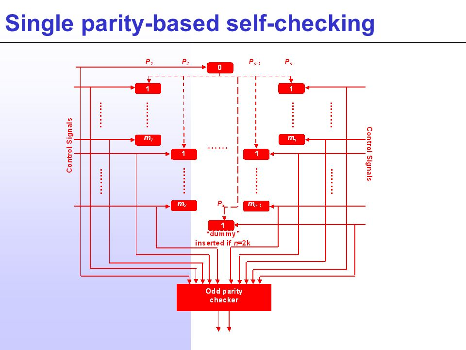Single parity-based self-checking