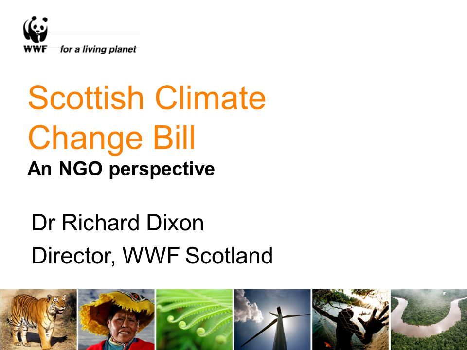 Scottish Climate Change Bill An NGO perspective Dr Richard Dixon Director, WWF Scotland