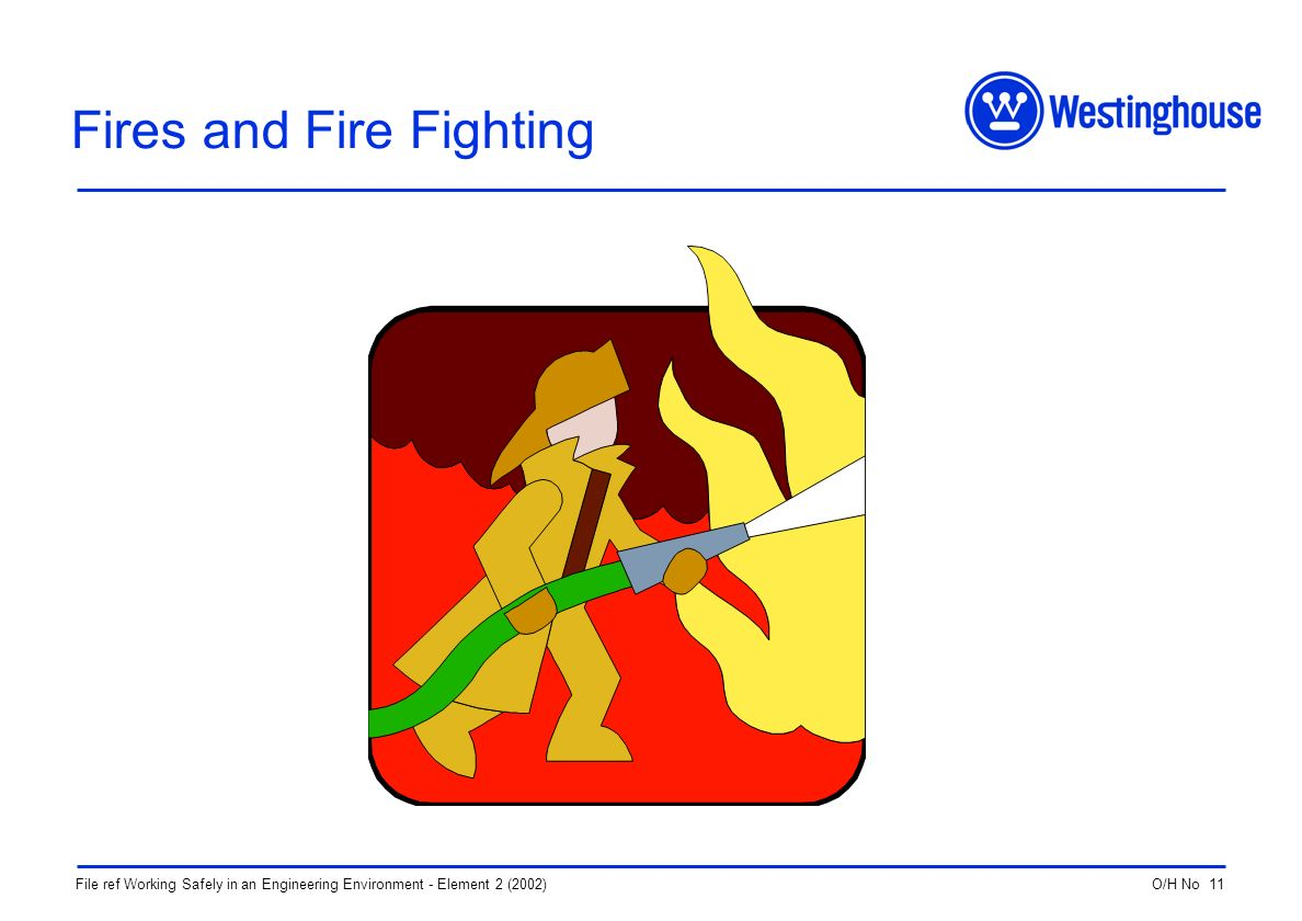 O/H No 11File ref Working Safely in an Engineering Environment - Element 2 (2002) Fires and Fire Fighting