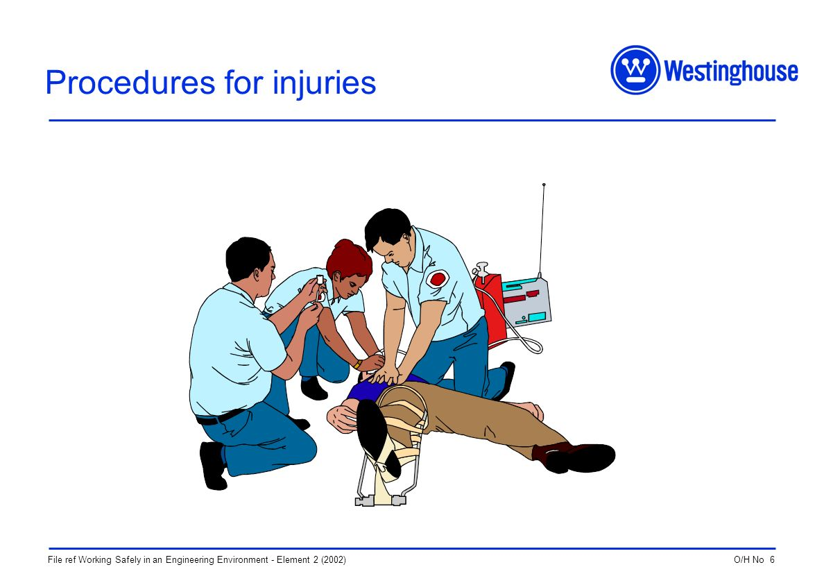 O/H No 6File ref Working Safely in an Engineering Environment - Element 2 (2002) Procedures for injuries