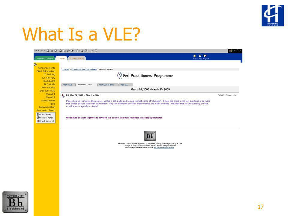 17 What Is a VLE.