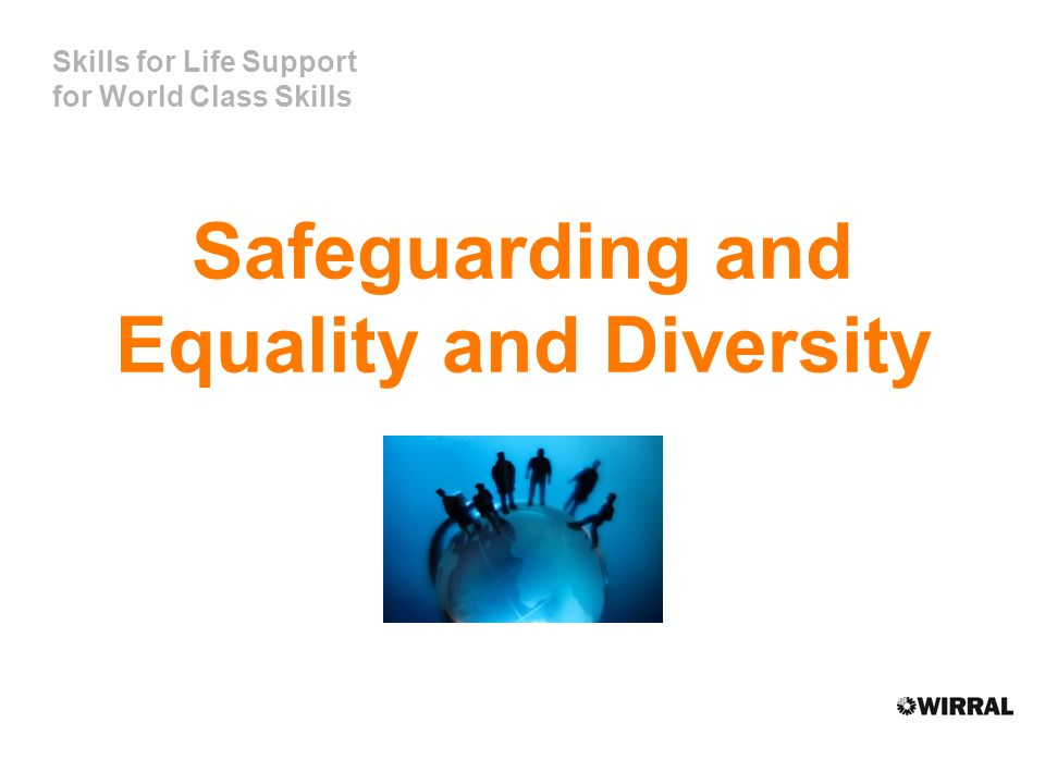 Skills for Life Support for World Class Skills Safeguarding and Equality and Diversity