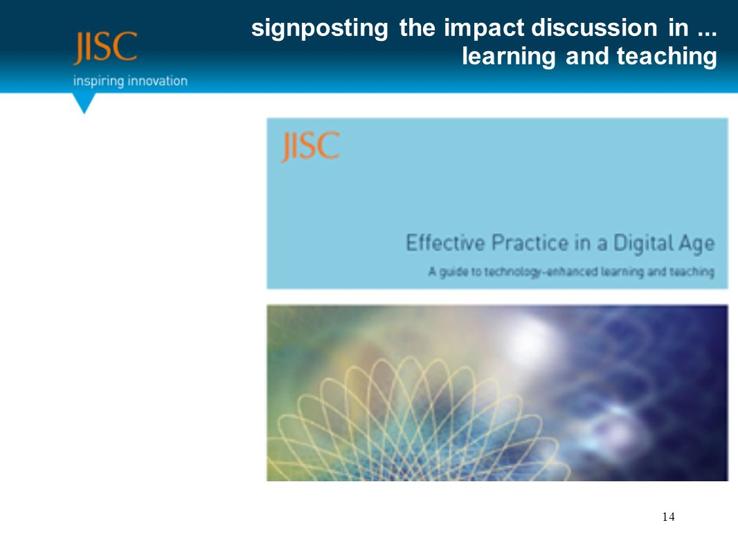 signposting the impact discussion in... learning and teaching 14