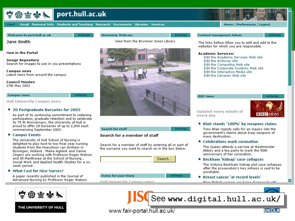 www.fair-portal.hull.ac.uk/ See www.digital.hull.ac.uk/