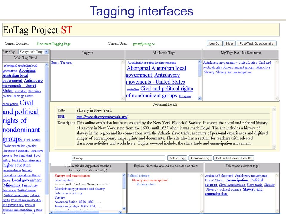 A centre of expertise in digital information management www.ukoln.ac.uk Intute demonstrator: Enhanced Tagging interfaces
