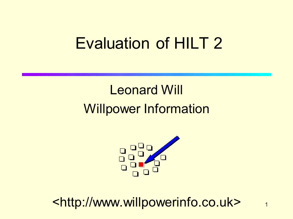 1 Leonard Will Willpower Information Evaluation of HILT 2